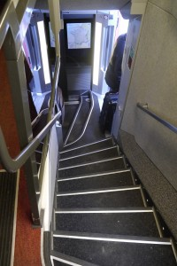 Stairs to first class